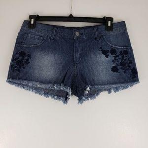 FOREVER 21 floral frayed shorts